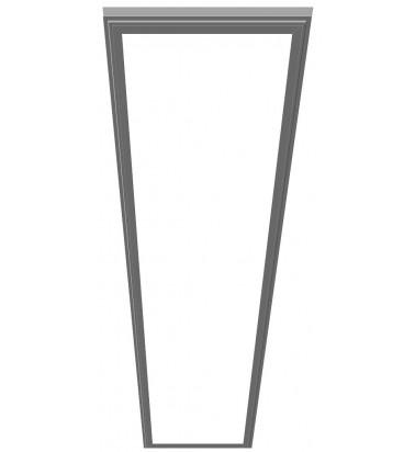 48W LED Šviesos Panelė, 120°, šiltai balta šviesa, 295x1195mm