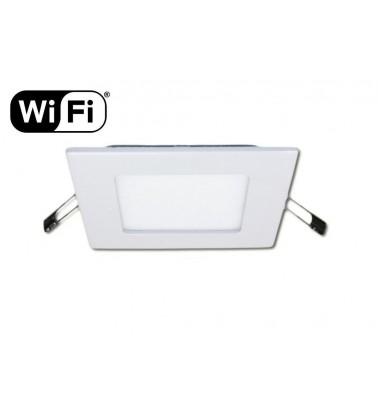 6W LED Šviesos Panelė, 2.4GHz RF/WiFi ready, keičianti šviesos spektrą ir šviesos intensyvumą, 120x120mm