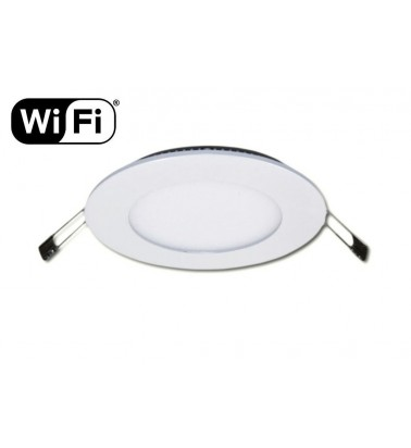 6W LED Šviesos Panelė, 2.4GHz RF/WiFi ready, keičianti šviesos spektrą ir šviesos intensyvumą, ∅120mm