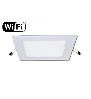 12W LED Šviesos Panelė, 2.4GHz RF/WiFi ready, keičianti šviesos spektrą ir šviesos intensyvumą, 174x174mm