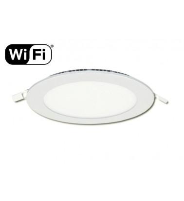 12W LED Šviesos Panelė, 2.4GHz RF/WiFi ready, keičianti šviesos spektrą ir šviesos intensyvumą, ∅170mm