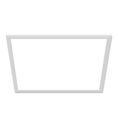 48W LED Šviesos Panelė, baltas rėmas, 120°, šiltai balta šviesa, 595x595mm