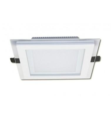 12W LED Šviesos Panelė, 120°, šiltai balta šviesa (stiklinis rėmelis), 160x160mm