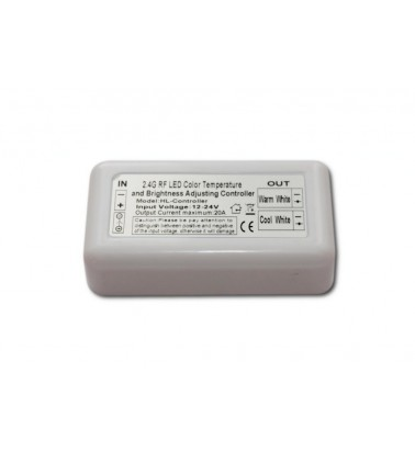 Dimmer and Color temp controller, 120W/240W, 12V DC, (CW/WW)