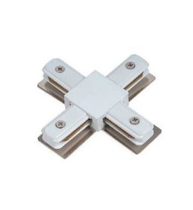 "Track connector ""Plain"", white, 4 sides"