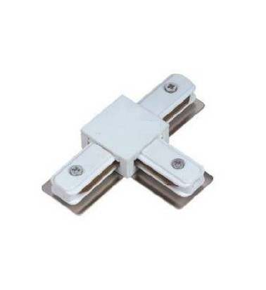 "Track connector ""Plain"", white, 3 sides"