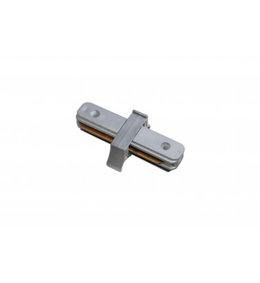 Track connector, silver, 2 sides