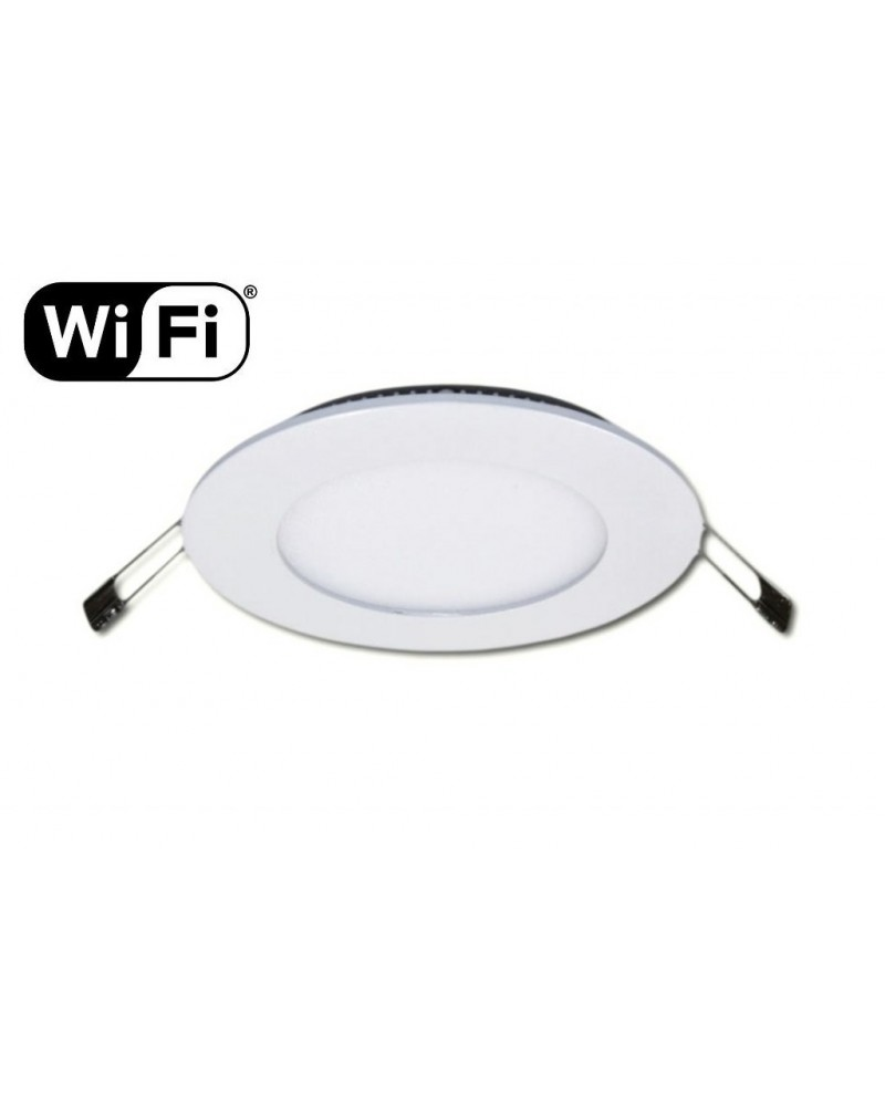6W LED Panel, 120°, 2.4GHz RF/WiFi ready, adjustable light color temperature, ∅120mm