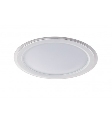 30W LED Panel, 120°, warm white light (glass frame), ∅260mm