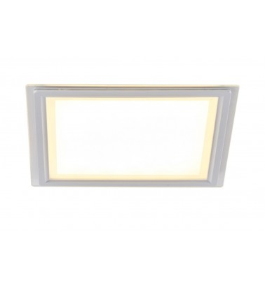 30W LED Panel, 120°, warm white light (glass frame), 260x260mm