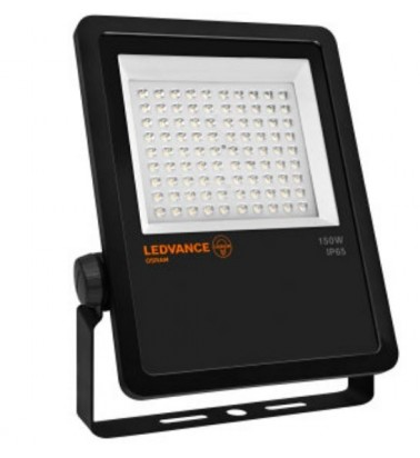 "150W Floodlight ""LEDVANCE"", 38x80° (asymmetric), day light"