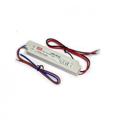 18W Power supply, 12V, Mean Well,IP67