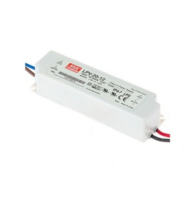 20W Power supply, 12V, Mean Well,IP67