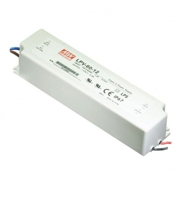 60W Power supply, 12V, Mean Well,IP67