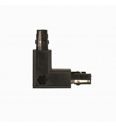 Track connector, black, 2 sides