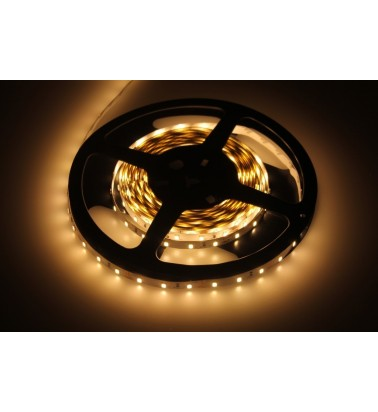 6W LED Strip, 3000K (warm white light), IP20, 12V, 5m