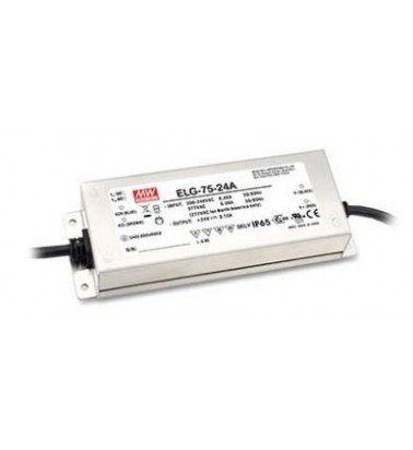 75W Power supply, 24V, Mean Well, IP67