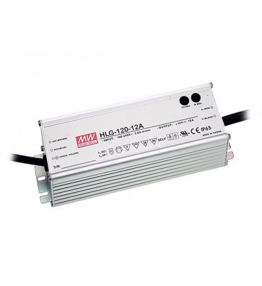 120W Power supply, 12V, Mean Well, IP67