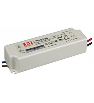 20W Power supply, 24V, Mean Well, IP67