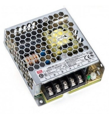 50W Power supply, 12V, Mean Well