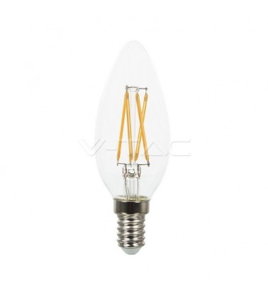 "4W LED bulb ""V-TAC"", warm light, E14"