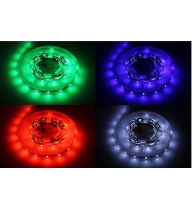 7.2W LED Strip, RGB (changing colors), IP20, 12V, 5m