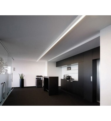 Linear surfaced lighting system, 1m, silver