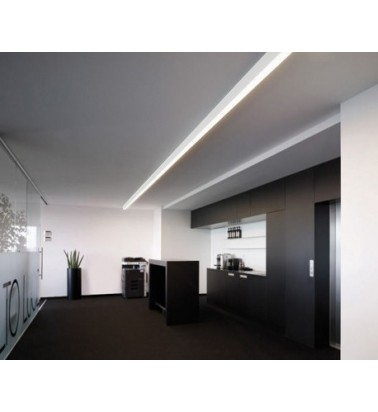 Linear surfaced lighting system, 1m, white