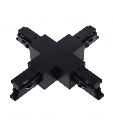 "Track connector ""Magnum CITY"", black, 3 phases"
