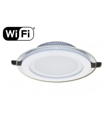 12W LED Panel, 120°, 2.4GHz RF/WiFi ready, adjustable light color temperature (glass frame), ∅160mm