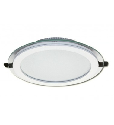 18W LED Panel, 120°, warm white light (glass frame), ∅200mm