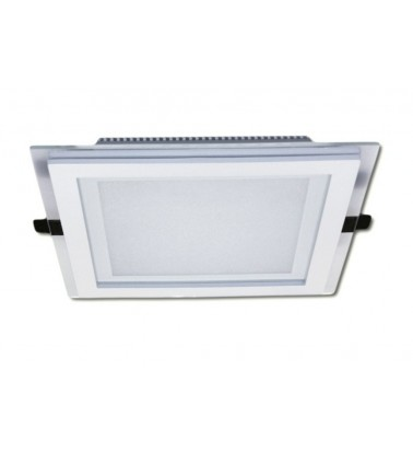 18W LED Panel, 120°, warm white light (glass frame), 200x200mm